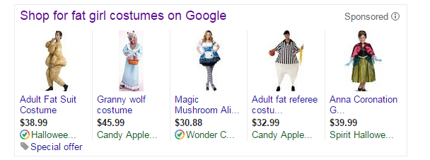 shop for fat girl costumes on Google